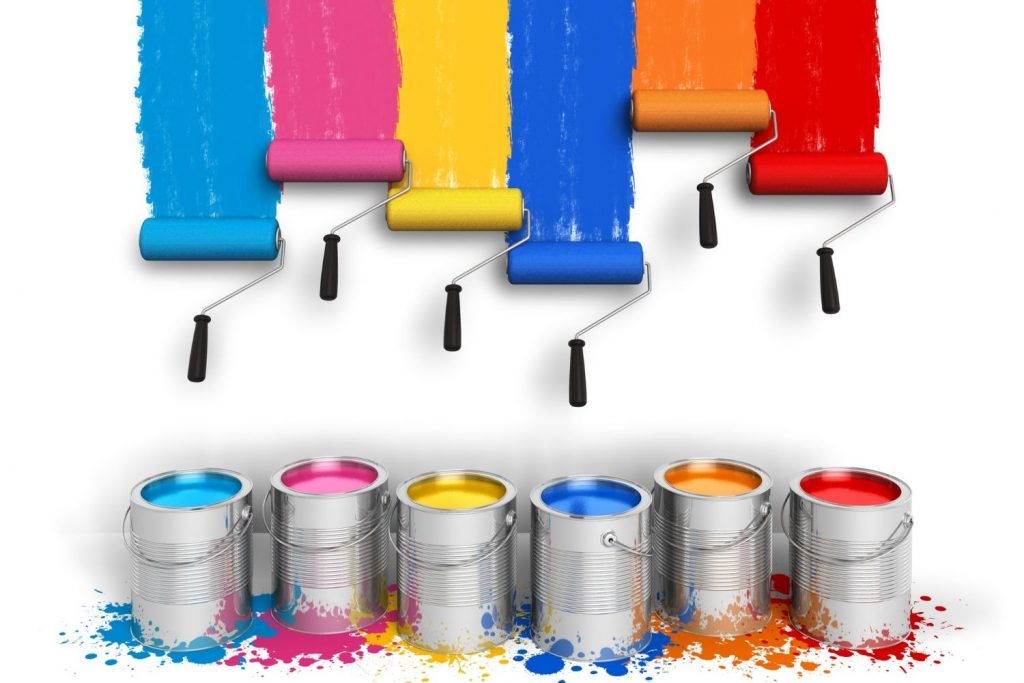 cans of paint   color inspiration   wall decor   wall paint   color palette