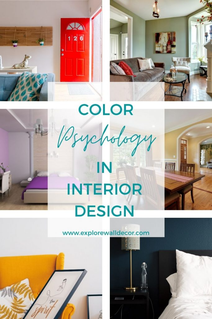 pin this image to share the article on color psychology in interior design