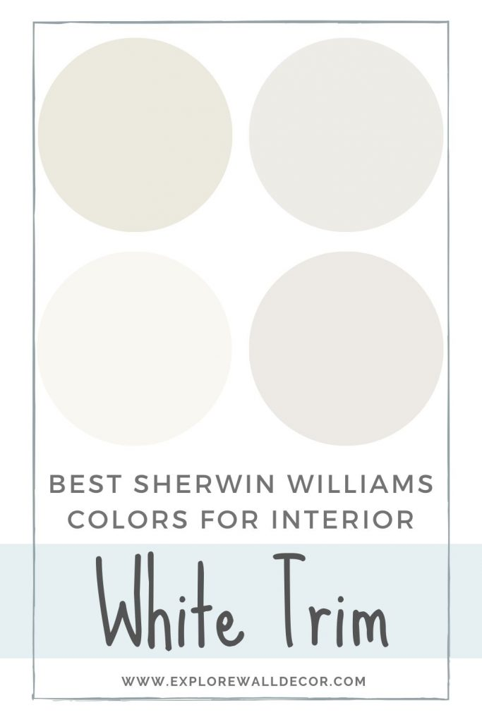 pin this image to share the article on Best Sherwin Williams White Paint Color for Interior Trim