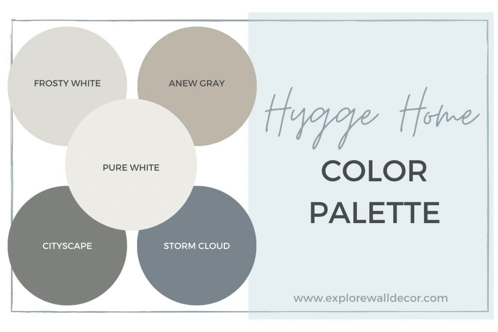 hygge inspired paint color palette