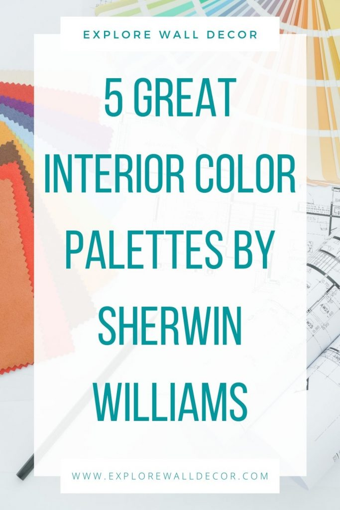 pin this image to share the whole house color palette by sherwin williams