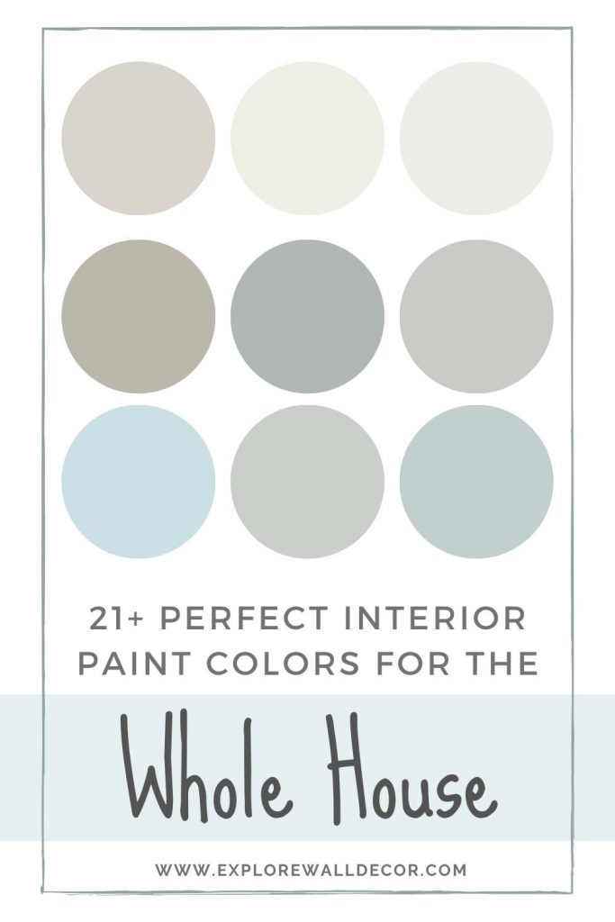 pin this image to share the article on one paint color for the whole house