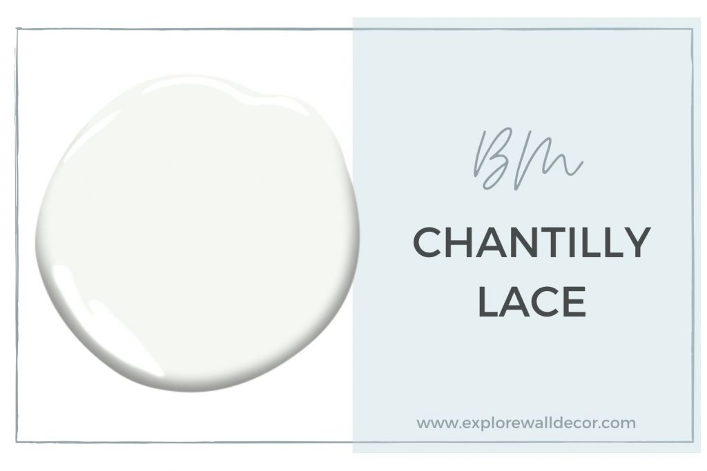 color card featuring chantilly lace by benjamin moore