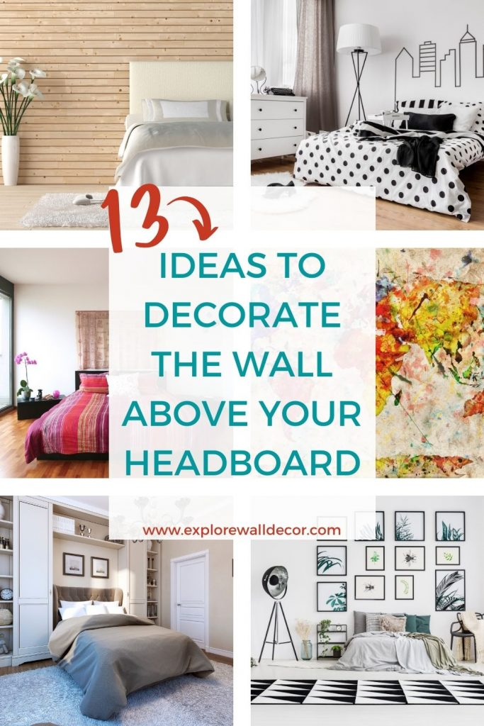 pin this image to share these ideas for decorating the wall behind your headboard