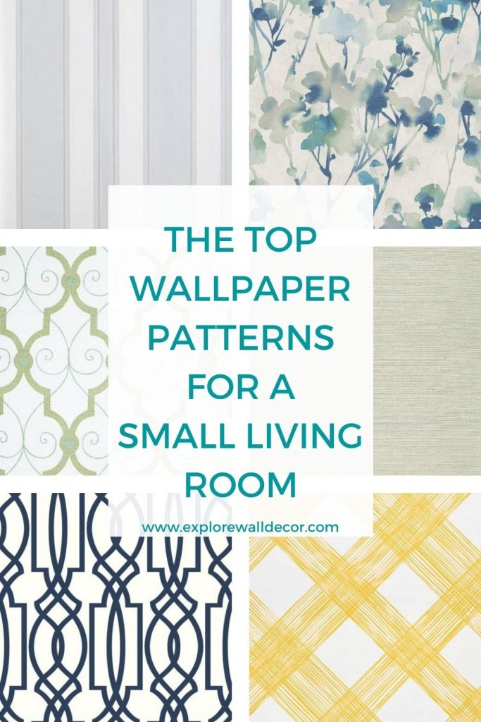 pin this image to share the article on how to choose wallpaper for small living room