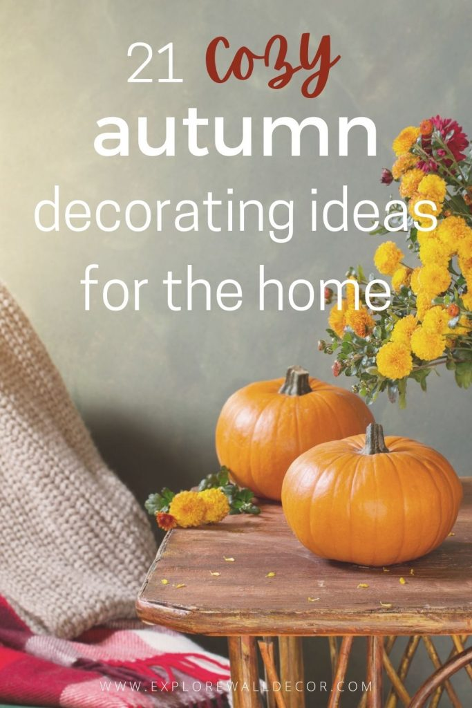pin this image to share the ideas for autumn decor for the home