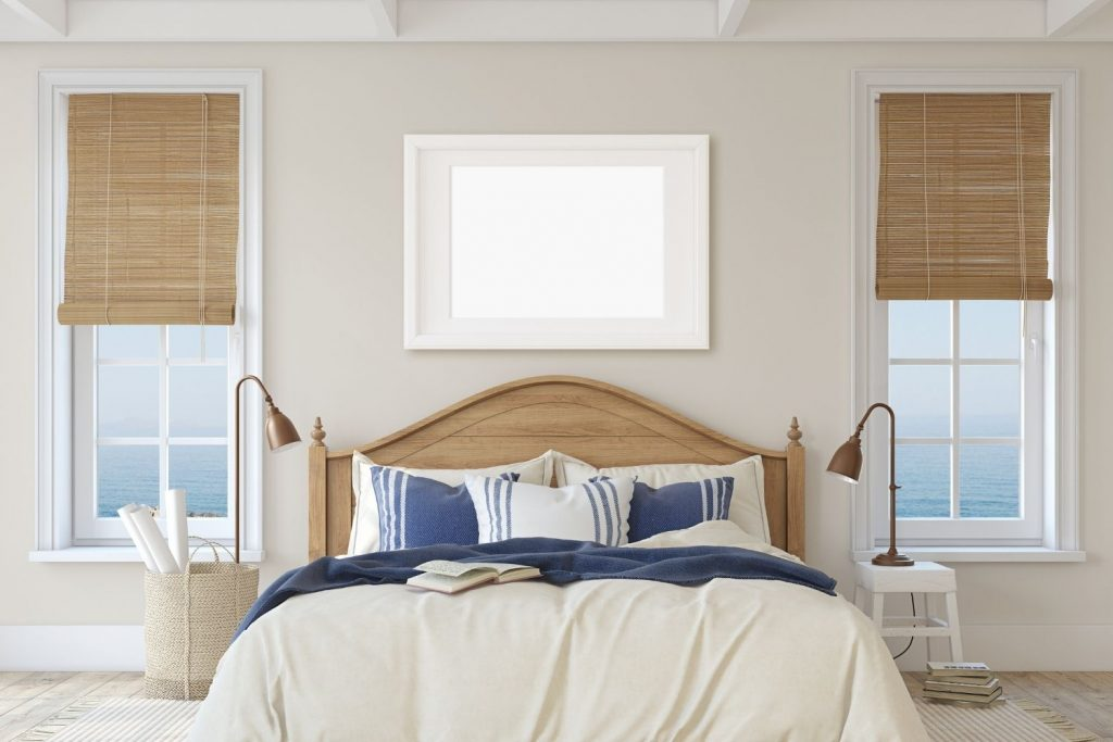 bedroom with off white walls