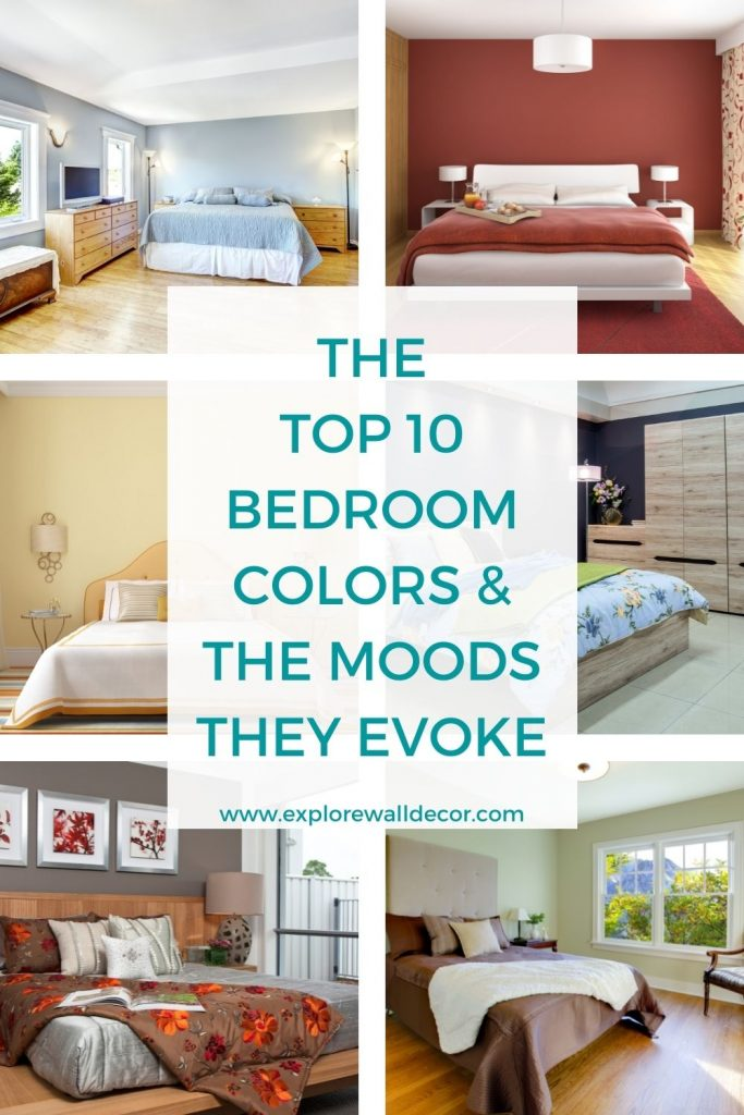 pin this image to share the article on bedroom colors and moods