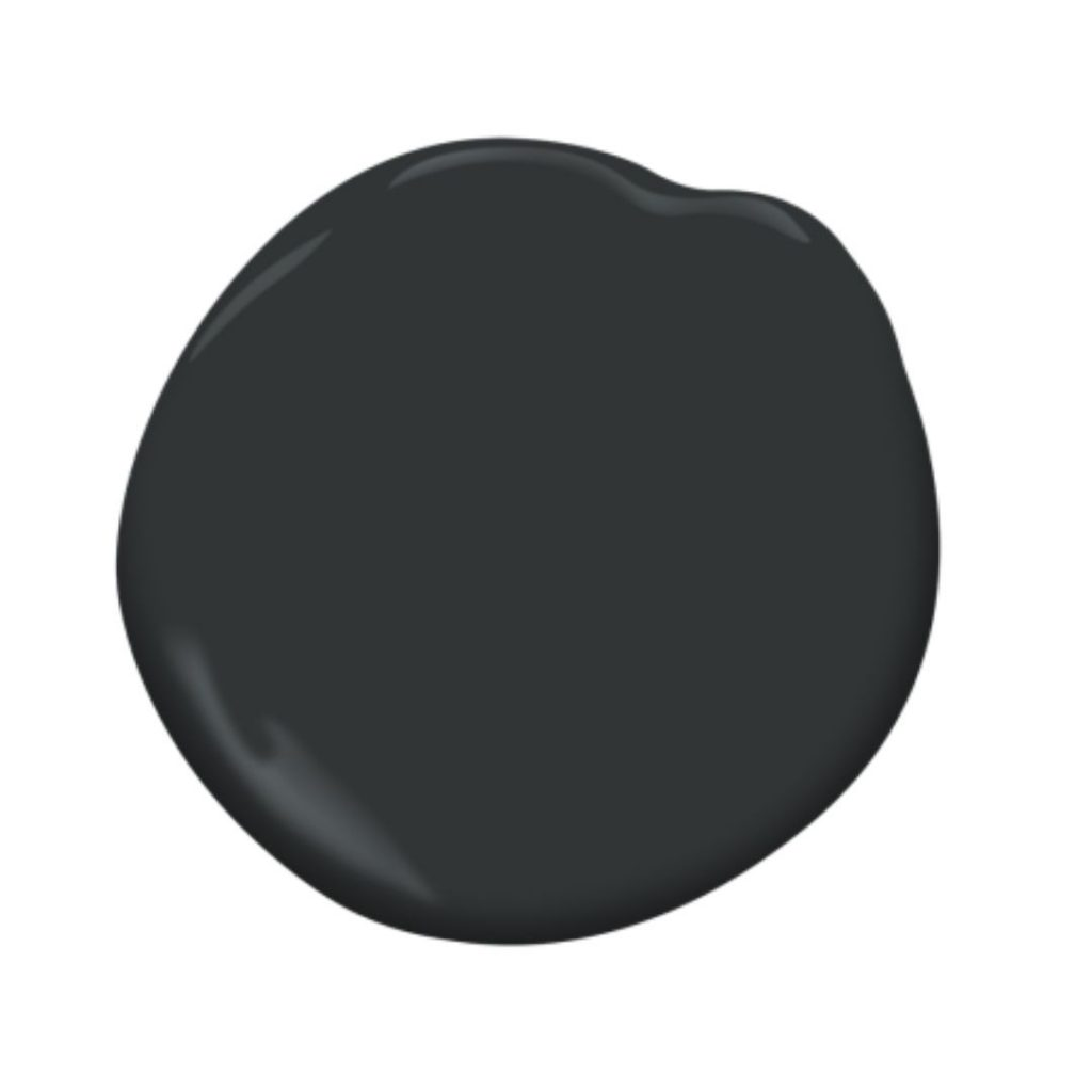 black satin paint splotch