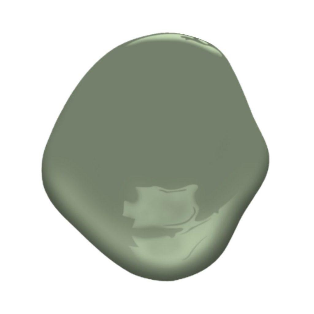 avon green paint splotch