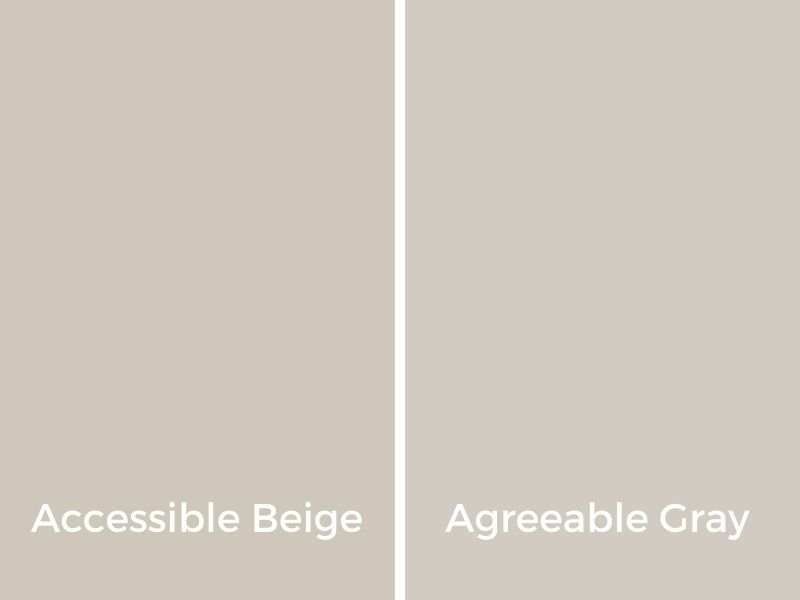 graphic comparing accessible beige vs. agreeable gray