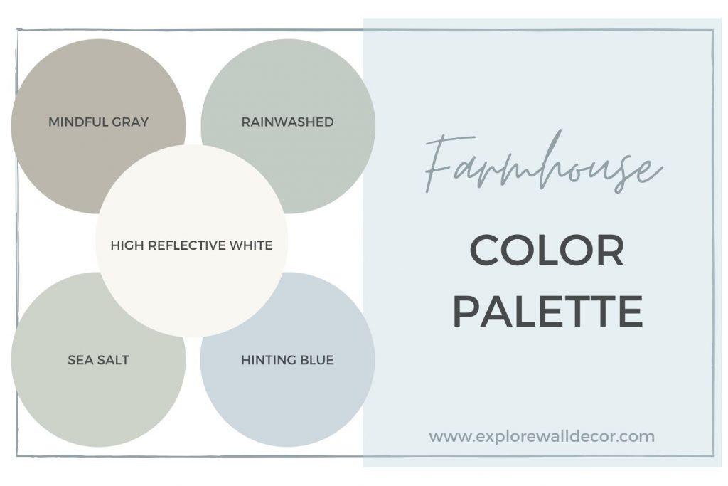 modern farmhouse paint color palette