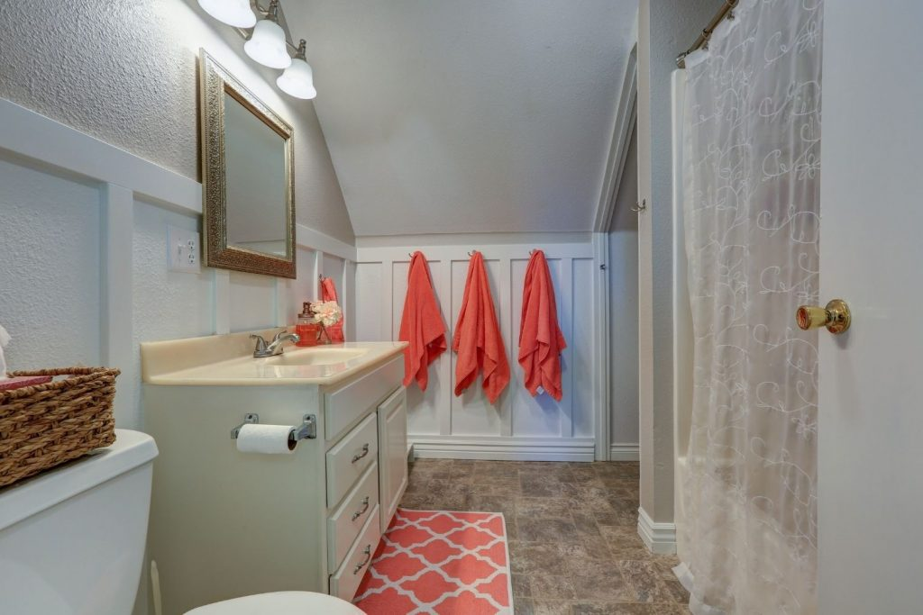 bathroom with board and batten